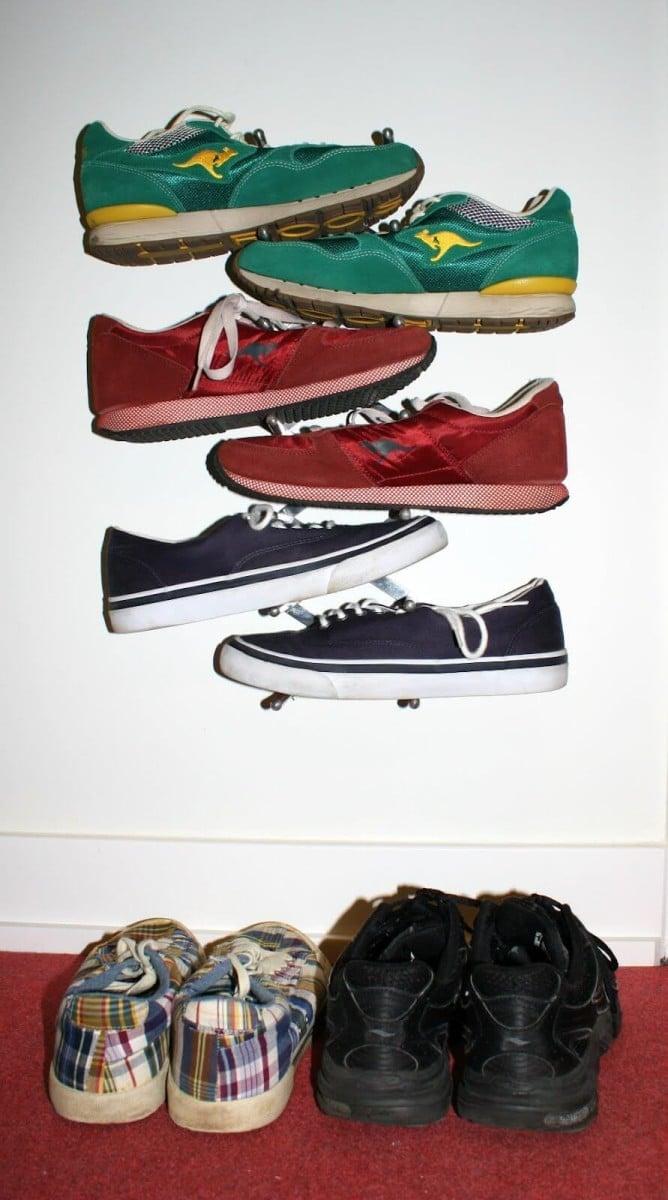 sneaker rack