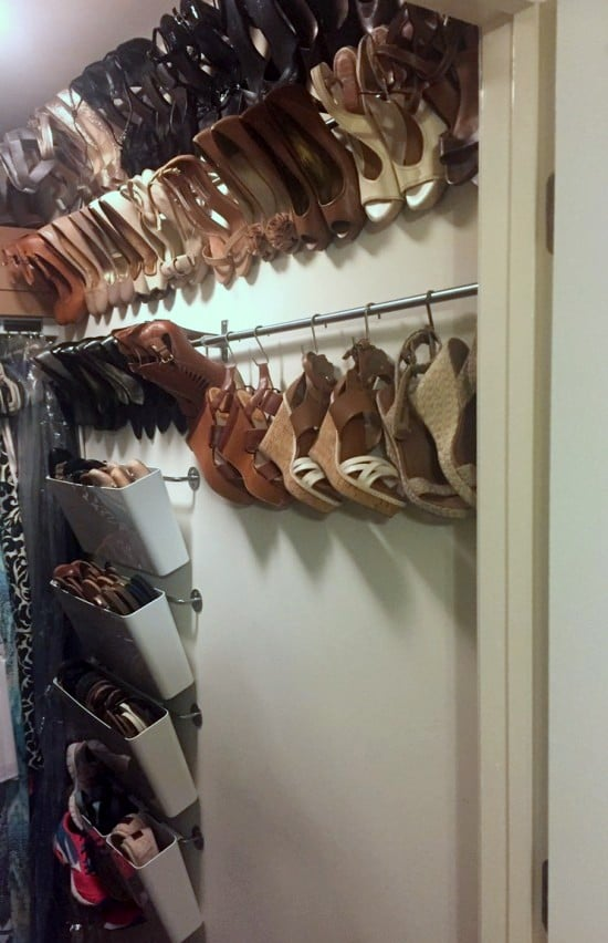 wall mounted shoe hanging system