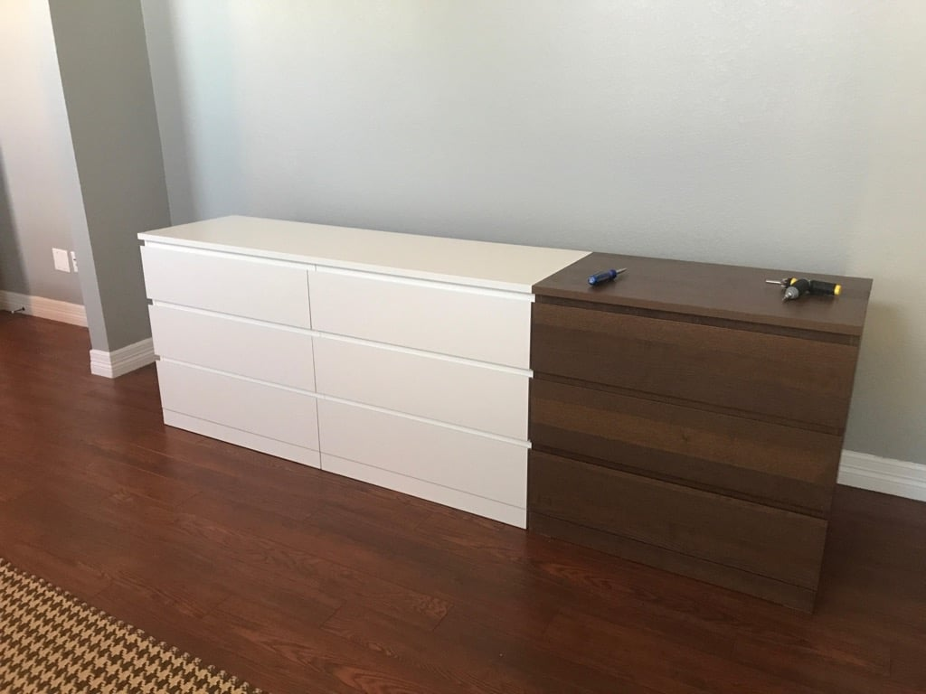 XL chest of drawers: One BIG MALM Dresser