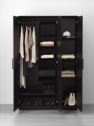 Expanding Brimnes Wardrobe with drawers