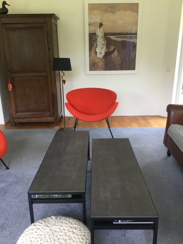 faux stone coffee table - IKEA NYBODA