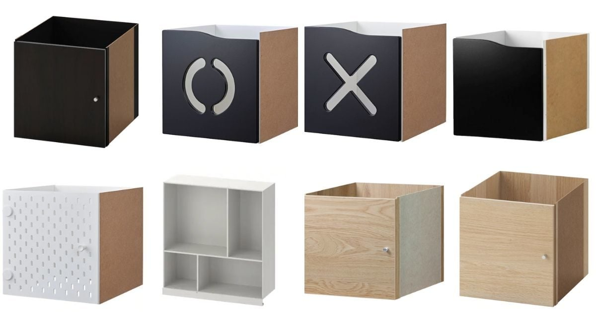 ikea kallax insert with doors and drawers