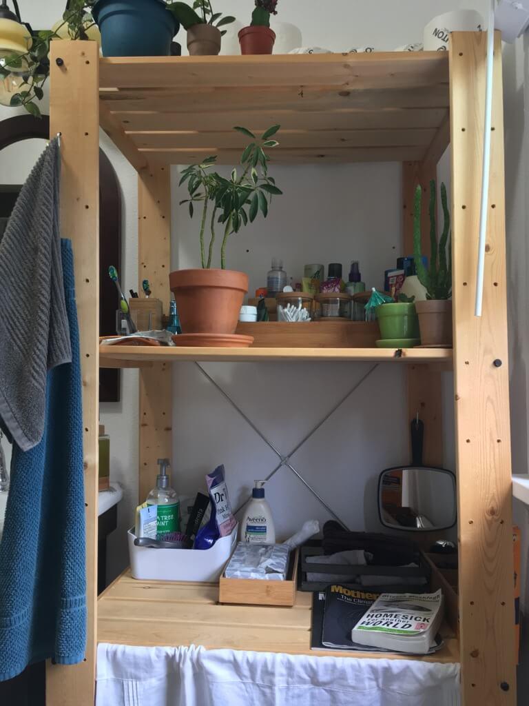 bathroom everything rack