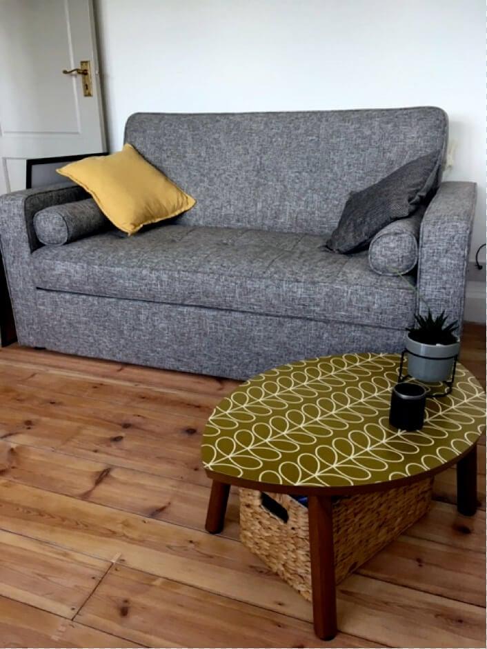 Orla Kiely Linear Stem on IKEA STOCKHOLM coffee table