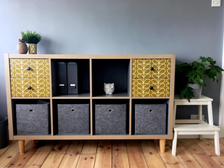 IKEA KALLAX office sideboard