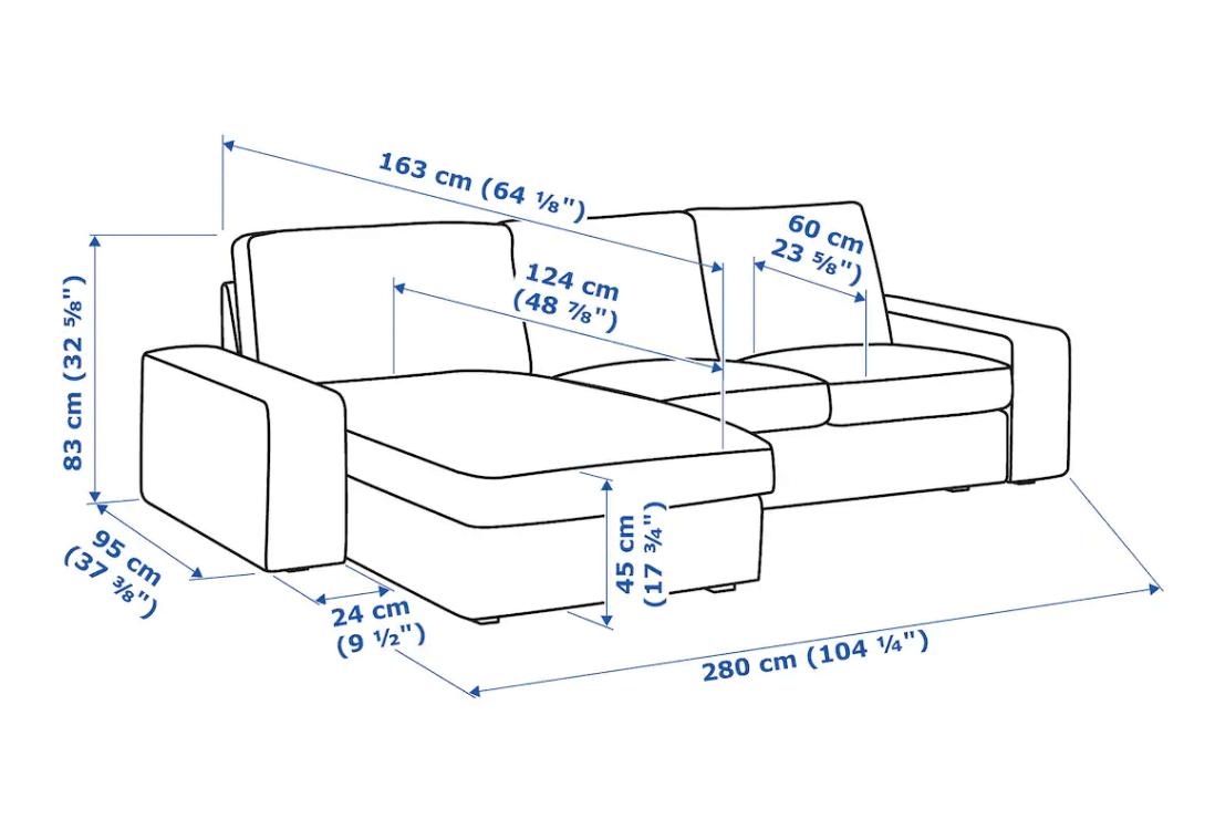 KIVIK armrests and sofa