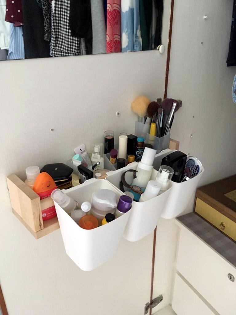 door makeup organizer