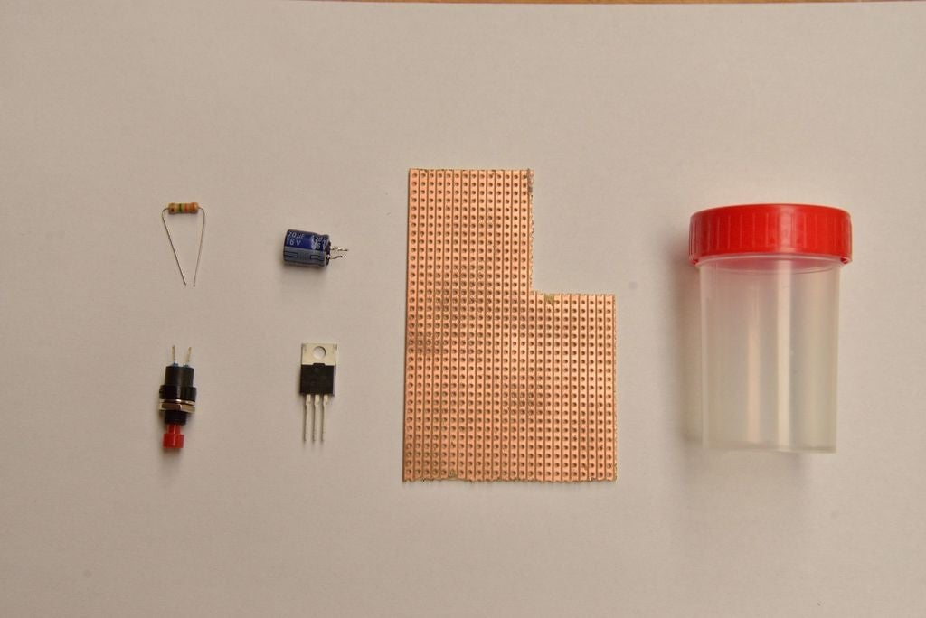 materials for light off timer lamp