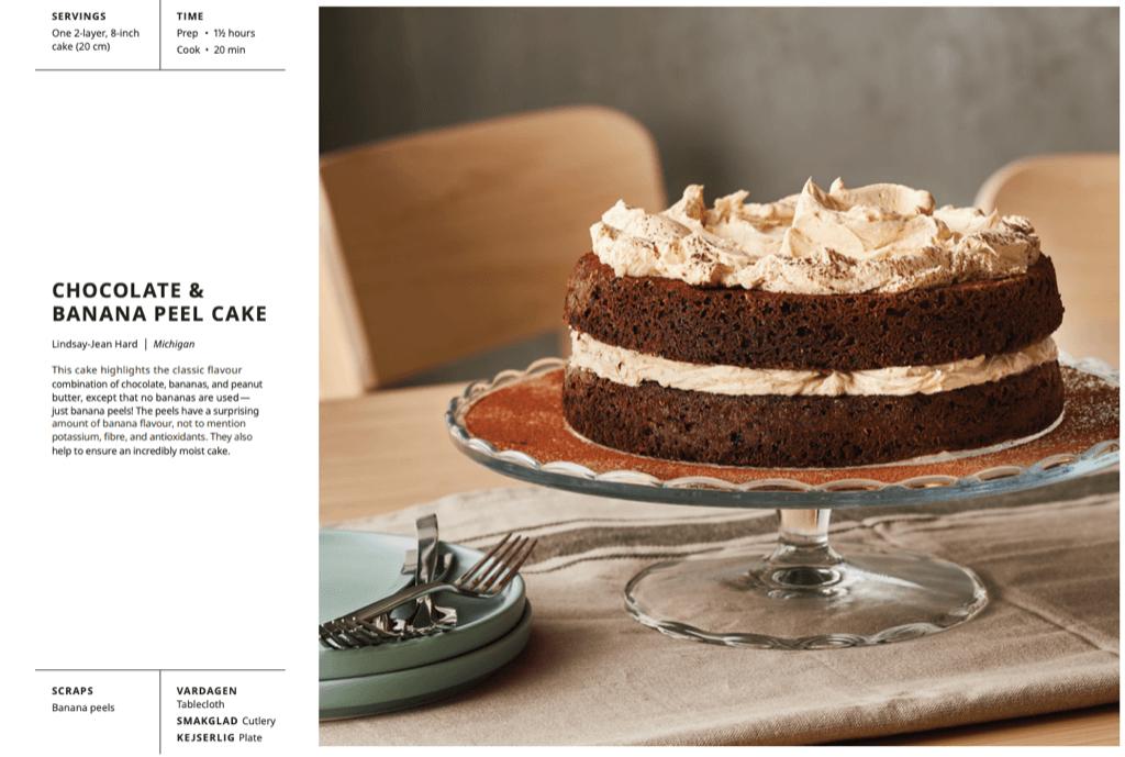 chocolate banana peel cake
