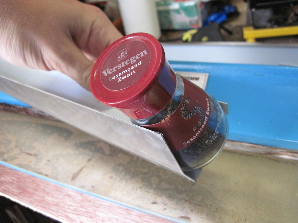 angled spice shelf