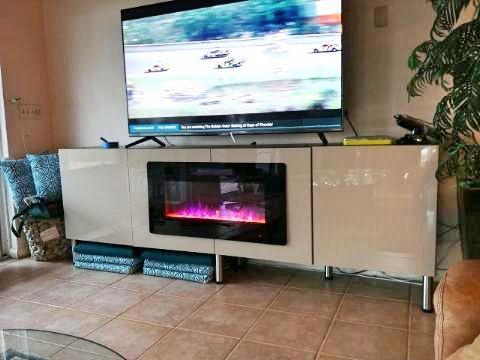 built-in fireplace ikea besta