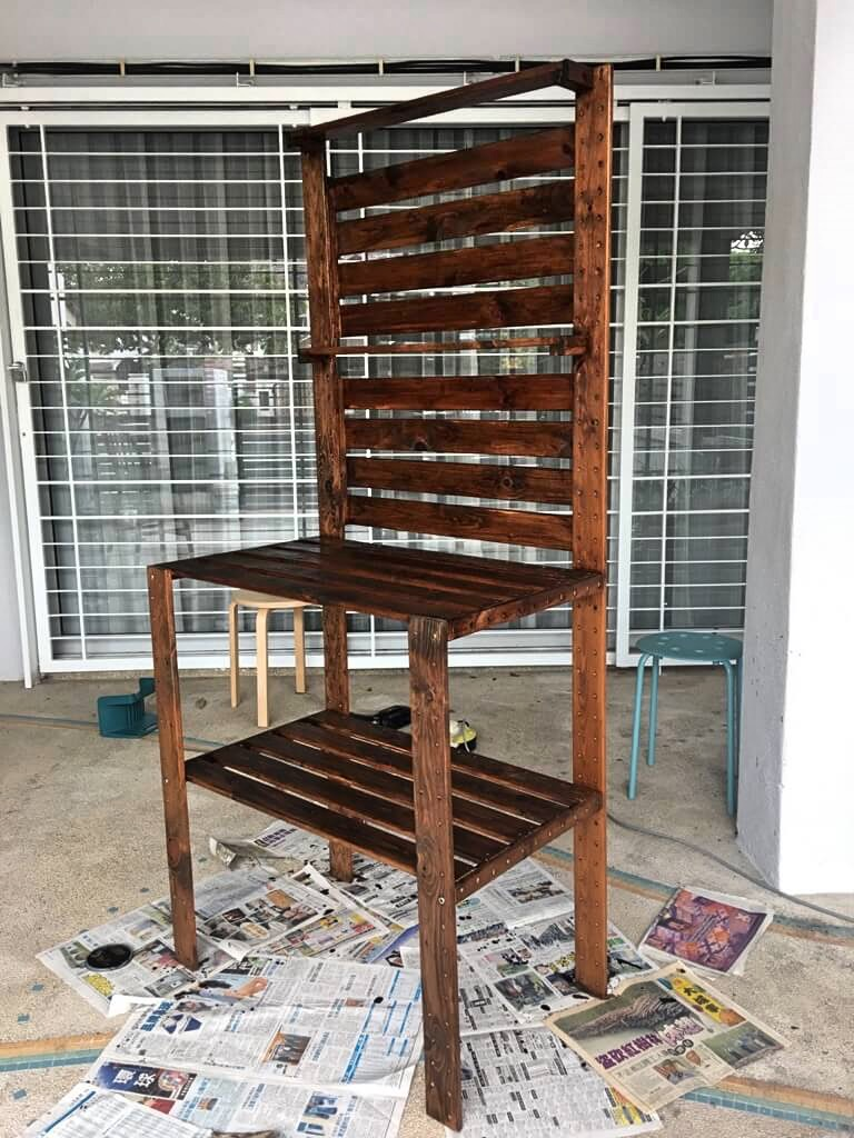 DIY potting table IKEA HEJNE hack