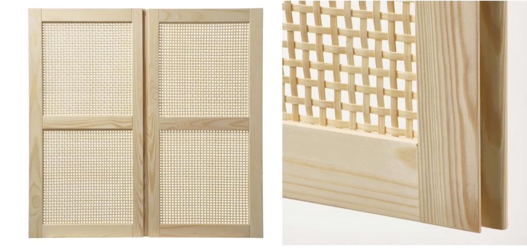 IKEA bamboo weave door